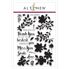 Floral Shadow Stamp Set - Timbri Altenew