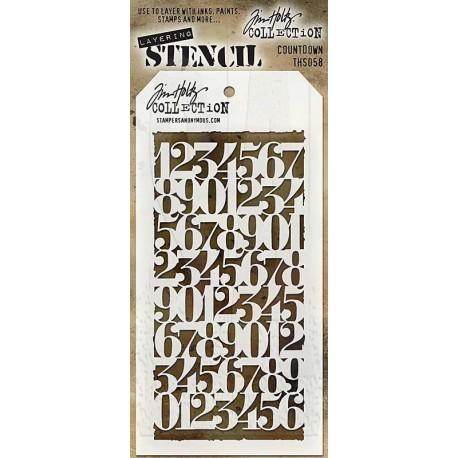 Stencil Tim Holtz - Countdown