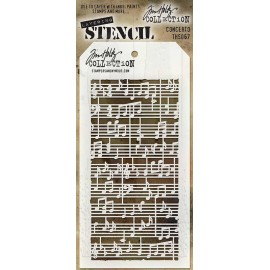 Stencil Tim Holtz - Concerto