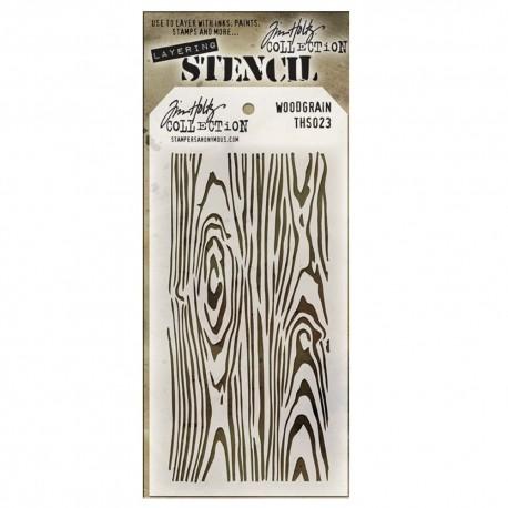 Stencil Tim Holtz - Woodgrain