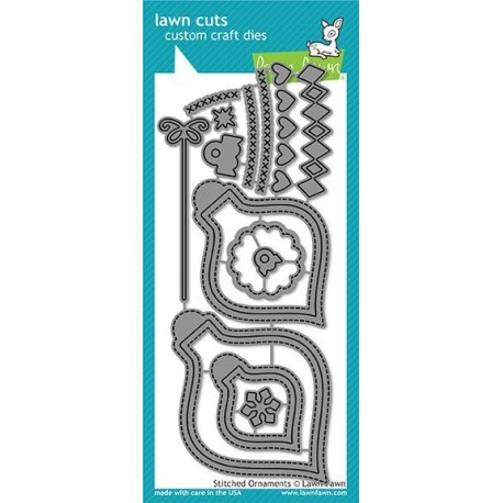 Stitched Ornaments - Fustelle Lawn Fawn