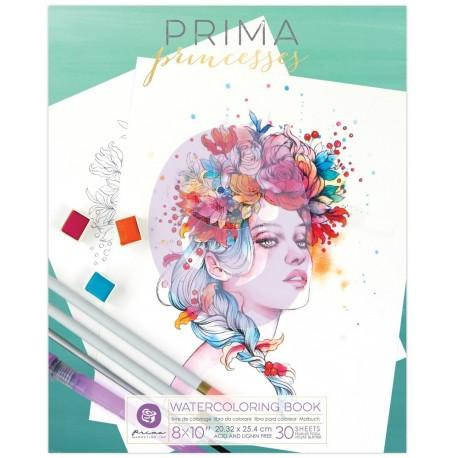 Coloring Prima Princesses Book 1 - Album da colorare per adulti ad acquerelli