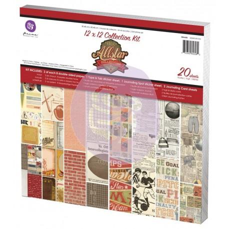 """Blocco di carte per Scrapbooking di Prima Marketing  - """"Allstar Collection"""""""
