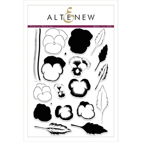 Pretty Pansies Stamp Set - Timbro di Altenew