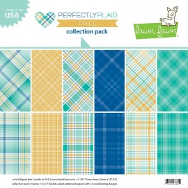 "Blocco di carte Lawn Fawn 12""x12"" - ""Perfectly plaid chill"""